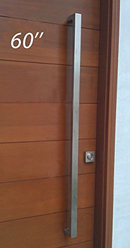 Modern & Contemporary Square/Rectangle Shape 1524mm / 60 inches Push-Pull Stainless-Steel Door Handle for Interior/Exterior - Satin Brushed Finish