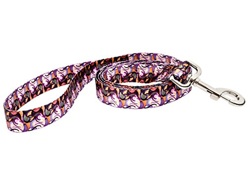 DoggyRide Fashion Dog Leash, 5-Feet, Van Heemskerck Bild84, Pink/Purple