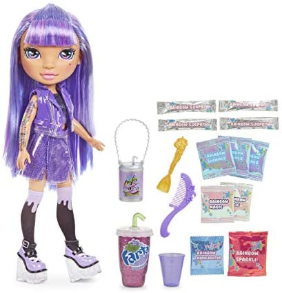 Rainbow Surprise Rainbow High 14-inch Doll – Amethyst Rae Doll with DIY Slime Fashion | Complete Doll Clothes and Accessories- Fun Playset for Kids Ages 6+