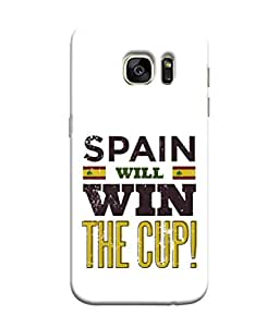 ColorKing Football Spain 04 White shell case cover for Samsung S7