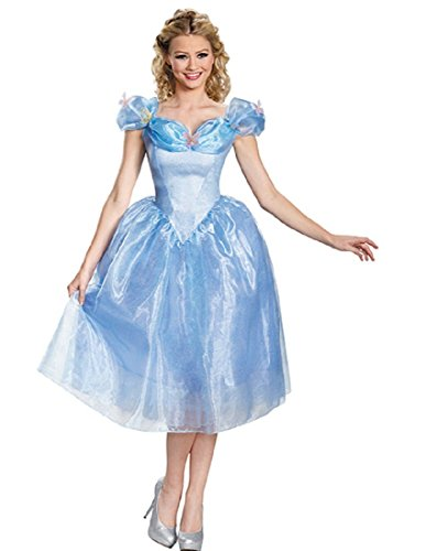 Disguise Women's Cinderella Movie Adult Deluxe Costume, Blue, -