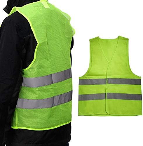 V/élo XXL Avertissement Gilet r/éfl/échissant V/êtements de Travail Haute visibilit/é Jour Nuit Gilet de Protection pour la s/écurit/é routi/ère