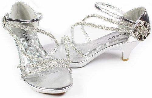 Amazon.com | AG Crystal Flower Rhinestone Evening Dress Ankle