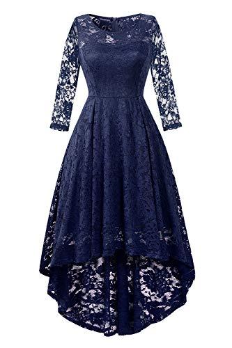 c106677af01 BBX Lephsnt Womens Lace Cocktail Dress Elegant Floral Sleeveless Swing High  Low Formal Prom Dress