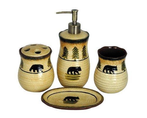 HiEnd Accents Bear Lodge Bathroom - Wildlife Holder Cabin