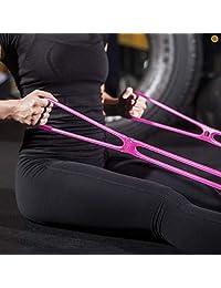 7 anillos elásticos de resistencia para ejercicio: Miracle Miles Band Yoga elástico, brazo, hombros, pierna, gimnasio en casa, terapia física