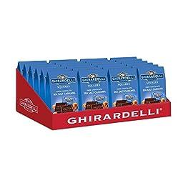 Ghirardelli Dark & Sea Salt Caramel Squares Bag, 24 Count, X-Small
