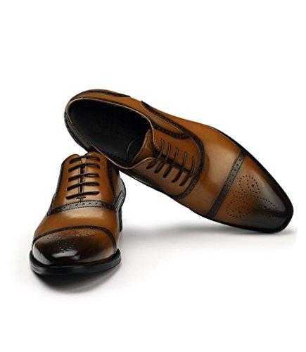 Koyi Hommes de Printemps et D'automne de la Mode des Chaussures Habillées Chaussures en Cuir de Printemps Brown 99PMVc