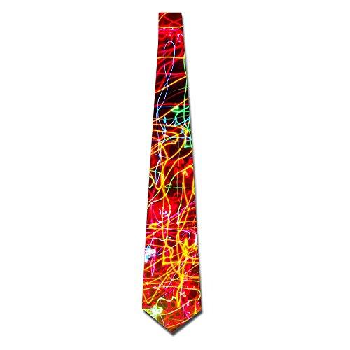 Light Creative Abstract Colorful Creative Men's Classic Silk Wide Tie Necktie (8 CM)