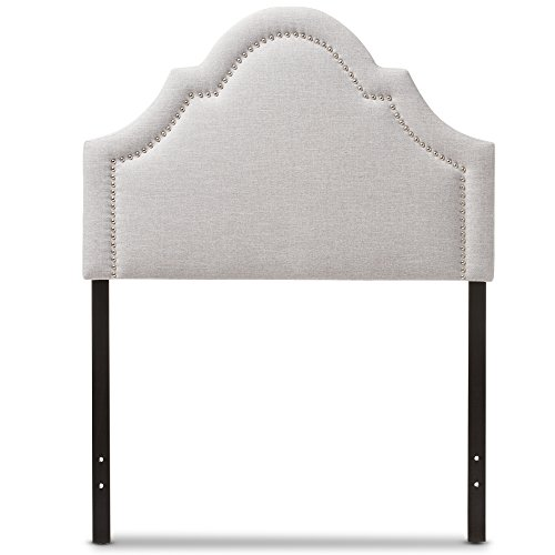 (Baxton Studio Remi Modern and Contemporary Greyish Beige Fabric Upholstered Headboard, Twin)