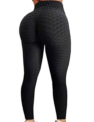 RIOJOY Yoga Pants for Women Fitness Leggings High Waist Ruched Butt Gym Running Tummy Control Sportwear Tights