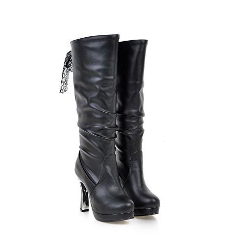 BalaMasaAbl09680 - Stivali Arricciati donna, Nero (Black), 35 EU
