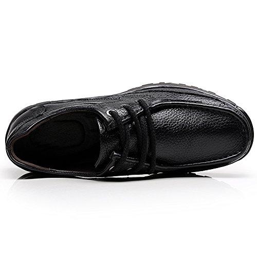 Shenn Cuir Travail Homme Lacé Espace 1620 Entreprise Oxfords Chaussures Noir rOq6r4x