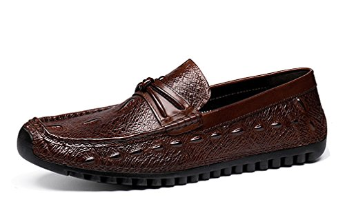 Loafer Mucca Slip Casual In Penny Di Brown Da Pelle Driving Dilize on Uomo XwdPZX