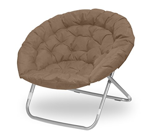 Urban Shop Oversized Saucer Chair, Khaki