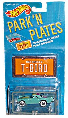 1988 HOT WHEELS PARK 'N PLATES 1957 T-BIRD INCLUDES COLLECTABLE LICENSE PLATE ()