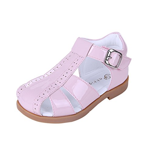 Pettigirl Niños Zapatos Verano Sandalias Antideslizante Cuna Zapatos Unisex Zapatos Rosa