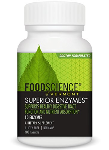 FoodScience of Vermont Superior Enzymes, Digestive Health Support, 90 Tablets All Zyme 90 Tablets