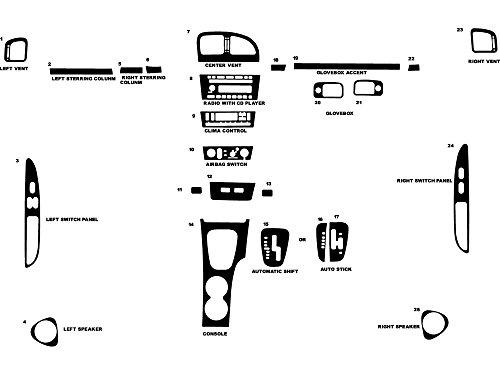 - Rvinyl Rdash Dash Kit Decal Trim for Ford Thunderbird 2002-2005 - Wood Grain (Burlwood Dark)