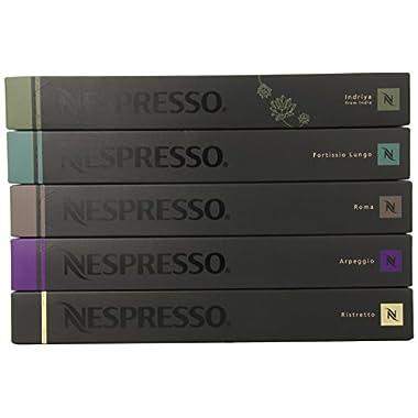 50 Nespresso OriginalLine Capsules variety pack: Intense Family