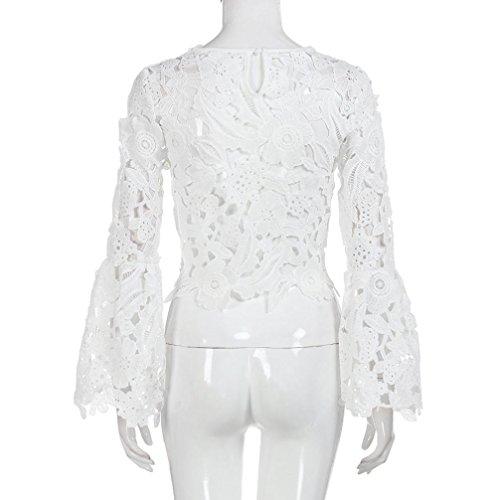 T Femmes et Tops Chemisiers Blouses Chic shirt Longra Fille FwtfgqH