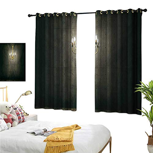 - S Brave Sky Grunge Decorative Curtains for Living Room Classic Chandelier in a Dark Gothic Wooden Room Vintage Style Room Picture W55 x L39,Suitable for Bedroom Living Room Study, etc.