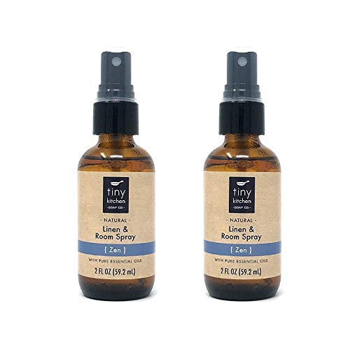 Zen Essential Oil Linen and Room Spray (2 Pack) - Handmade Natural Air Freshener