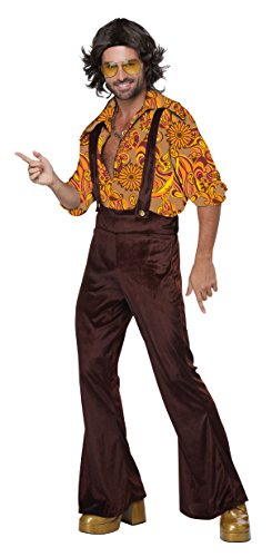 California Costumes Men's Jive Talkin'Disco Dude, Brown/Gold, Small - Disco Dude Adult Mens Costumes