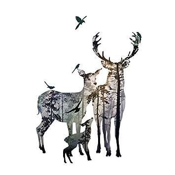 Amazoncom Fefre Elk Wallpaper Self Adhesive Modern Minimalist