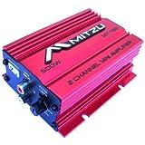 Mitzu Mit-75r 2 Channel 500 Watt Car and Motorcycle Audio Amplifier