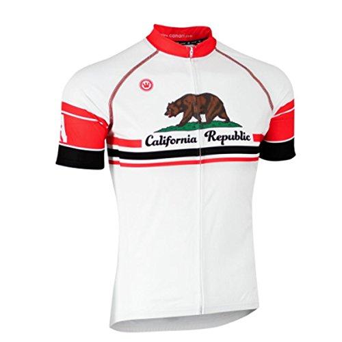 Canari Men's California Bear Souvenir Cycling/Biking Jersey - Mens California Bears