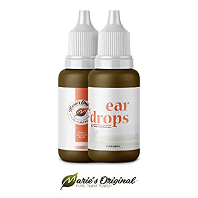 Natural Ear Drops for Infection Prevention, Pain Relief, Tinnitus, Ringing, Swimmer's Ear – Homeopathic, Holistic, Vegan Herbal Eardrops for Adults, Children – Made in USA, Healthy, Safe for Kids