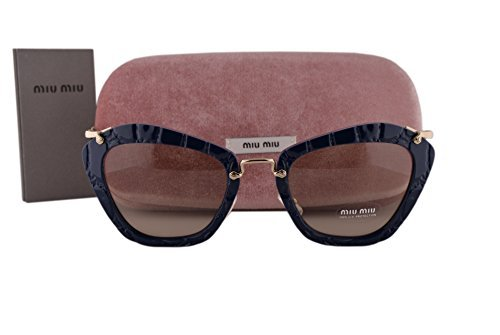 24238807f917 Image Unavailable. Image not available for. Color: Miu Miu MU10NS Sunglasses  Blue w/Light Brown Lens ...
