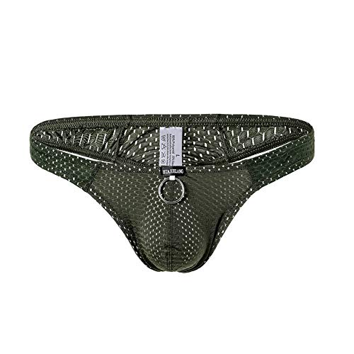 CHENGSHEN Sexy Men Thongs Breathable Hole Underwear Low Rise Pouch Jockstrap G-Strings Underpants