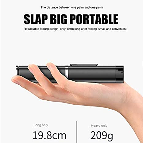 Baovery 3 in 1 Wireless Bluetooth Selfie Stick Handheld Phone Camera Tripod for iOS Andriod