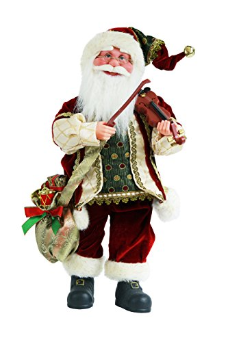 """Price comparison product image 16"""" Inch Standing Animated Musical Dancing Violin Santa Claus Christmas Figurine Figure Decoration M51804"""