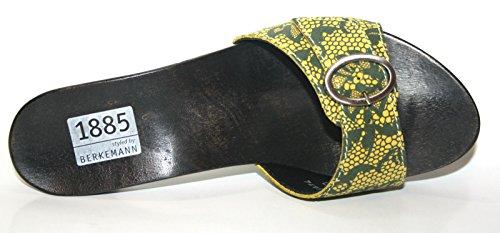 Berkemann - Pantuflas Mujer Negro - amarillo