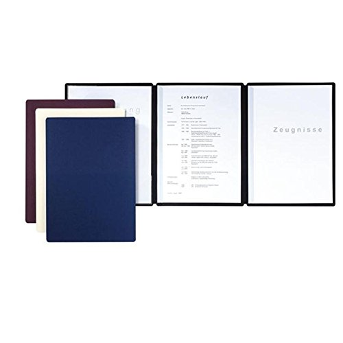 Pagna Job Application Folder Premium Edition Straight 3-Part Made from High Quality Premium Card