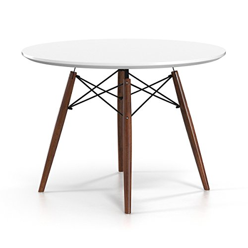 Charmant Eiffel Large Round Dining Table, Walnut Stain Legs