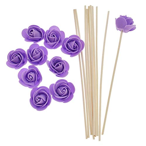 SeedWorld Reed Diffuser Sticks - 10pcs Artificial Flowers Fragrance Diffuser Replacement Sticks Rattan Refill for Incense Aromatherapy DIY Home Decoration 1 PCs by SeedWorld (Image #2)
