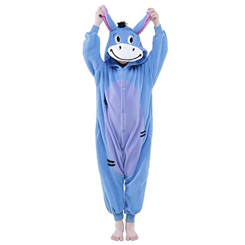 PECHASE Newcosplay Halloween Unisex Animal Pyjamas Child Cosplay Costume (125, Donkey) -