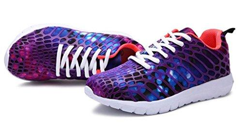 GFONE - Zapatos de tacón  mujer Pruple2