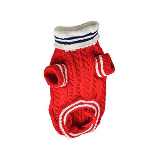 Cane Navy Pet Crochet Cane Domestico rosso Animale Samgu Maglione Style per maglia UqZ5x8B
