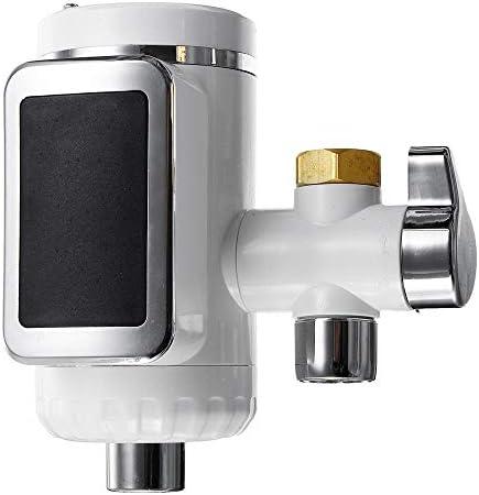 キッチン蛇口 無料インストール電気温水器キッチンクール/温水蛇口LED給湯 節水 ステンレス (色 : White, Size : One size)
