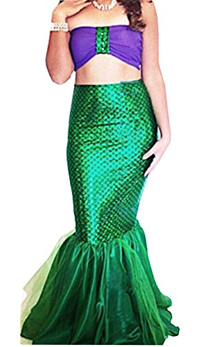 Women Mermaid Uniform Costume Lingerie Halloween Cosplay Fancy Dress (US 8, Blue)