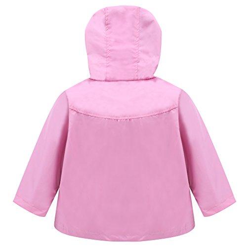 LZH Toddler Girls Raincoat Waterproof Outwear Coat Jacket with Hoodies by LZH (Image #2)