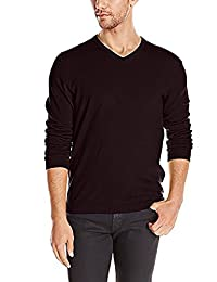 Calvin Klein Men's Extra Fine Merino Wool V-neck Sweater