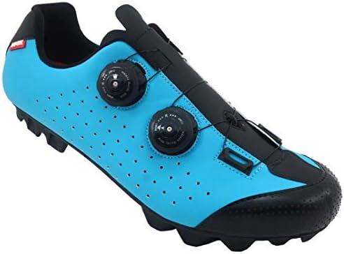 LUCK Zapatilla de Ciclismo MTB Eros con Doble Cierre rotativo de Alta precisión. (38 EU, Azul)