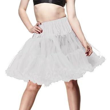 Hell Bunny Petticoat SWING SHORT white/white
