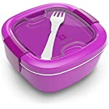 Bentgo Salad (Purple) - Conveniently Take Salads and Other Snacks On-the-go - Eco-Friendly & BPA-Free Lunch Container